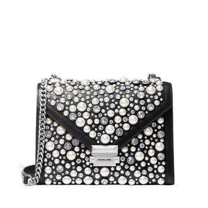 Michael Kors embellished crystal whitney chain bag
